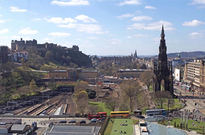 Edinburgh Castle and Princes Street