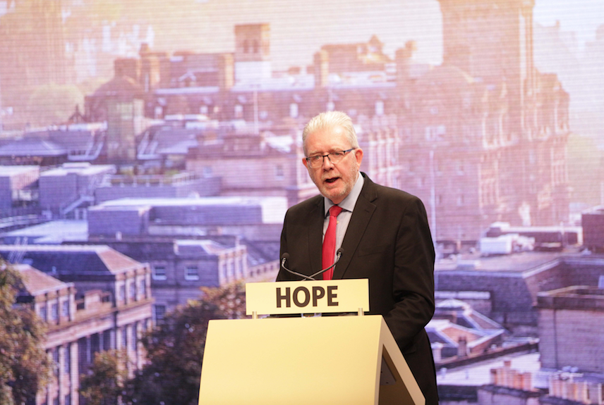 Mike Russell at SNP spring conference