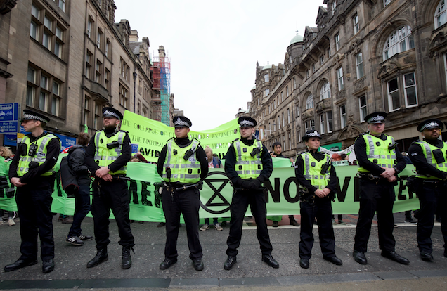 Thin yellow line - Extinction Rebellion