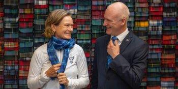 Catriona Matthew unveils the 2019 Solheim Cup tartan