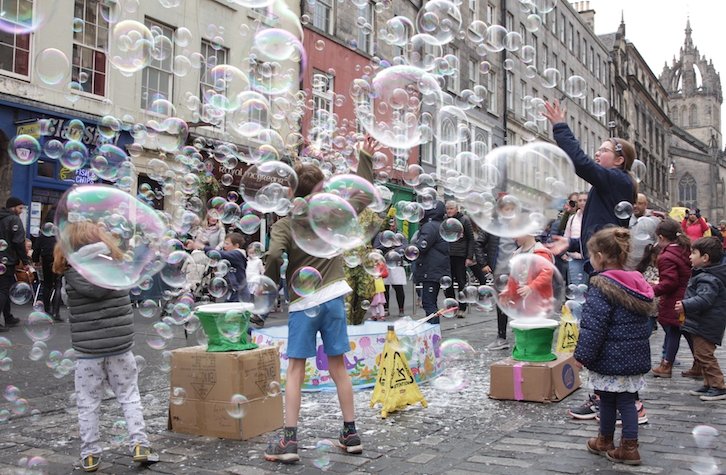 Bubbles in Royal Mile