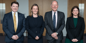 Kenneth Pinkerton, legal director; Gillian Crandles, managing partner; Simon Mackintosh, chairman and Jenny Younger, legal director, of Turcan Connell