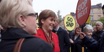 Nicola Sturgeon at EU campaign