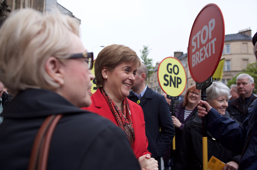 Nicola Sturgeon at EU campaign