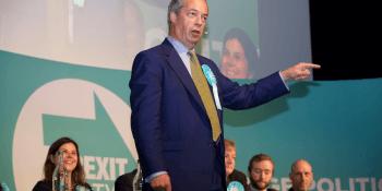 Nigel Farage at Edinburgh rally