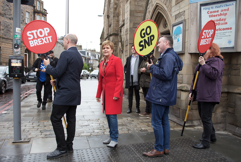 Sturgeon and party activists