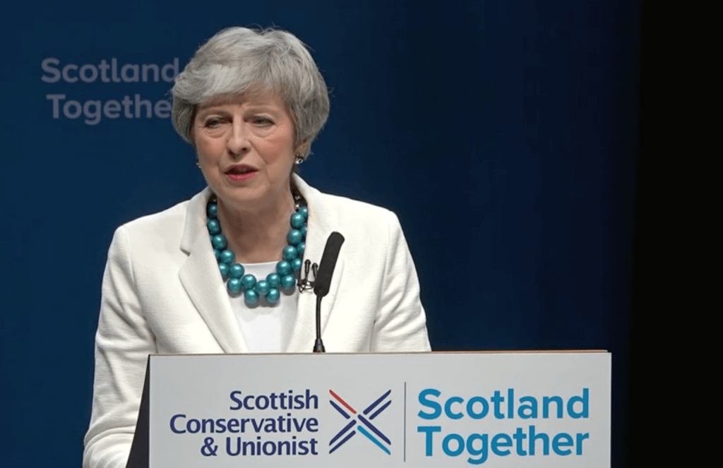 Theresa May in Aberdeen