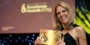 Kate Fairlie at Excellence Awards