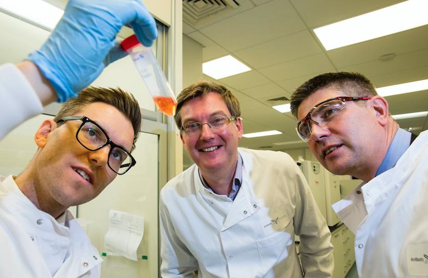 Andrew Baron, Antibody Analytics; Scott Webb, UKSE; Simon Hamilton, UKSE