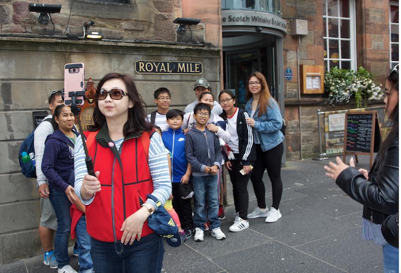 Asian tourists