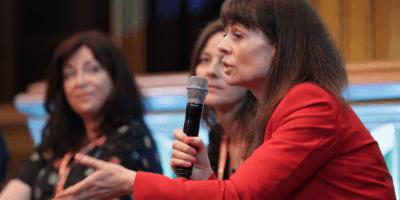 Evelyn McDonald on speaker panel
