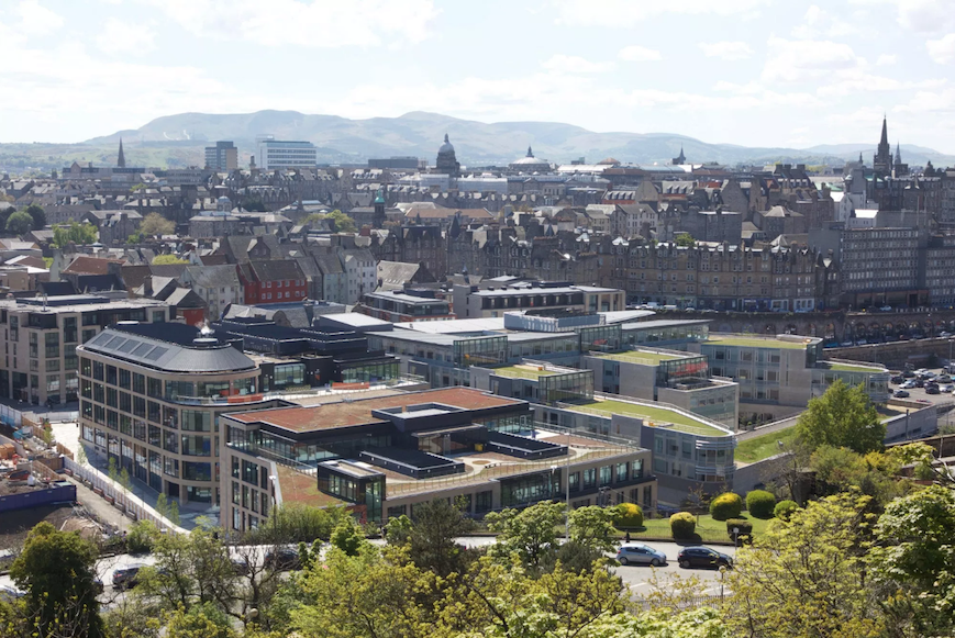 HMRC offices from Calton Hill