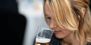 Christie Clinton of Aldi judging Scottis Beer Awards