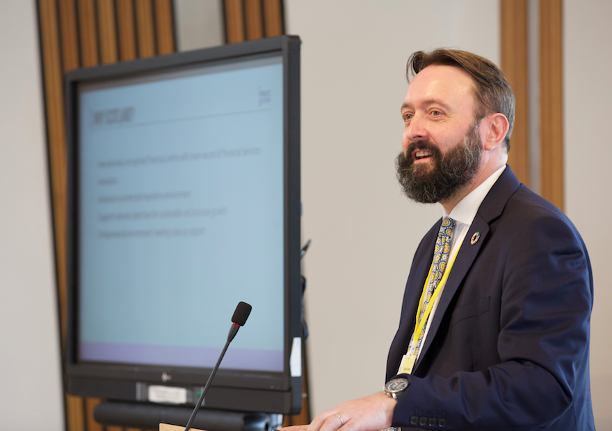 Tomas Carruthers at Scottish parliament
