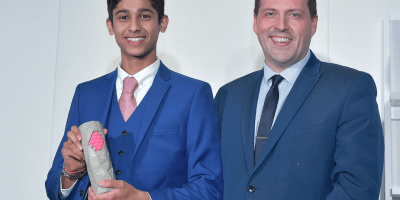 Young EDGE winner Suhit Amin of Salderson Media and Jamie Hepburn