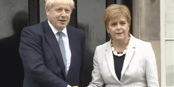 Boris Johnson and Nicola Sturgeon at Bute House
