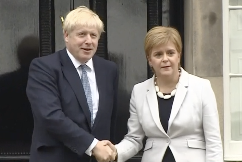Boris Johnson and Nicola Sturgeon at Bute House