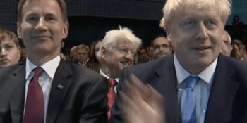 Jeremy Hunt and Boris Johnson with Stanley Johnson
