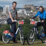 Mark Beaumont and Eileen Roe