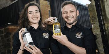 Rebecca Orr and Éoin Ó Murchú Holyrood Distillery Visitor Centre staff