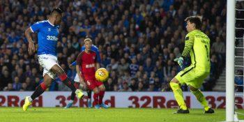 Alfredo Morelos nets Rangers' third v FC Midtjylland