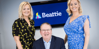 Beattie's-Scotland-director-Joanne-Spence-David-McAvery-founder-of-SERIOUS-and-CEO-of-Beattie-Laurna-Woods