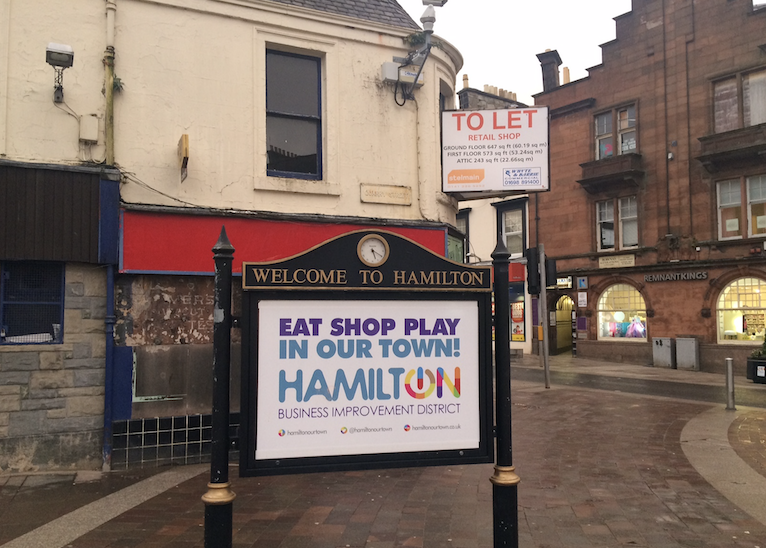 Hamilton town centre