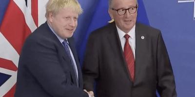 Boris Johnson and Jean Claude Juncker