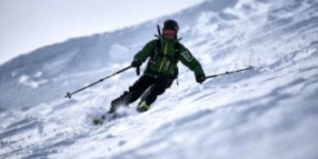 skier at Nevis Range