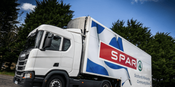 CJ Lang and Spar lorry
