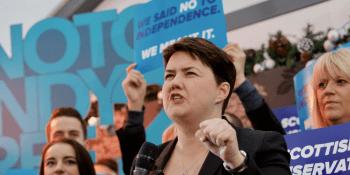 Ruth Davidson at election rally