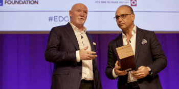 Sir Tom Hunter and Theo Paphitis