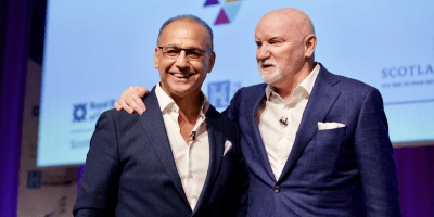 Theo Paphitis and Sir Tom Hunter