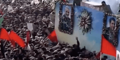 crowds at Iran funeral