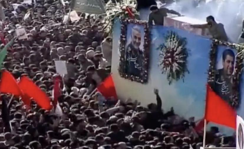 crowds at Iran funeral