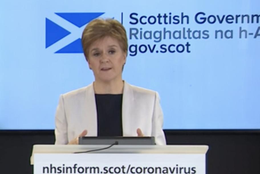 Nicola Sturgeon at press conf 25 March