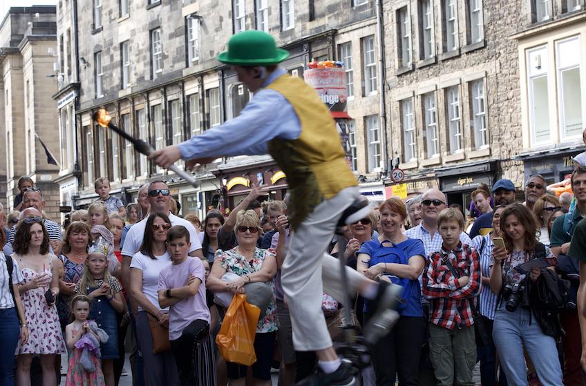 mono cyclist Edinburgh Festival