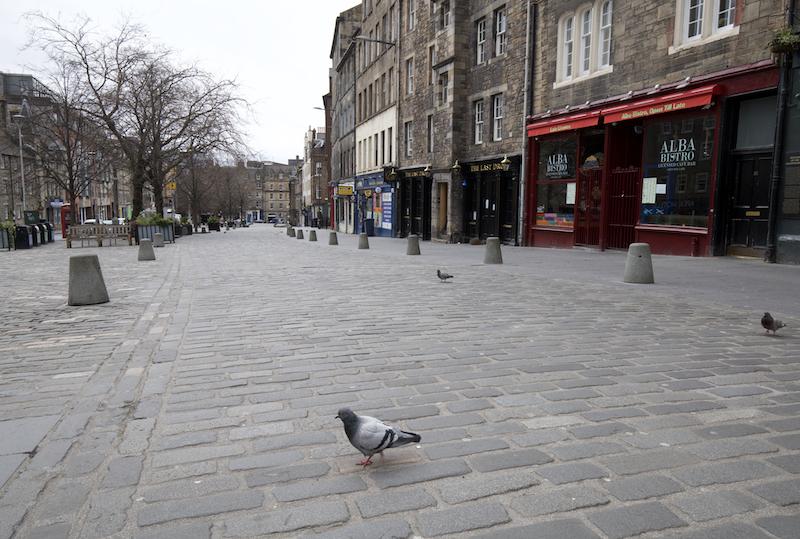 Grassmarket and pigeon