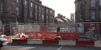 tram works Edinburgh