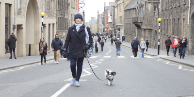 walking in Royal Mile