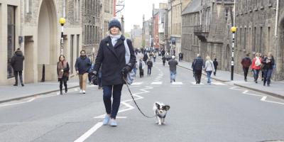 walking in Royal Mile