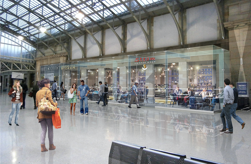 Aberdeen station concourse