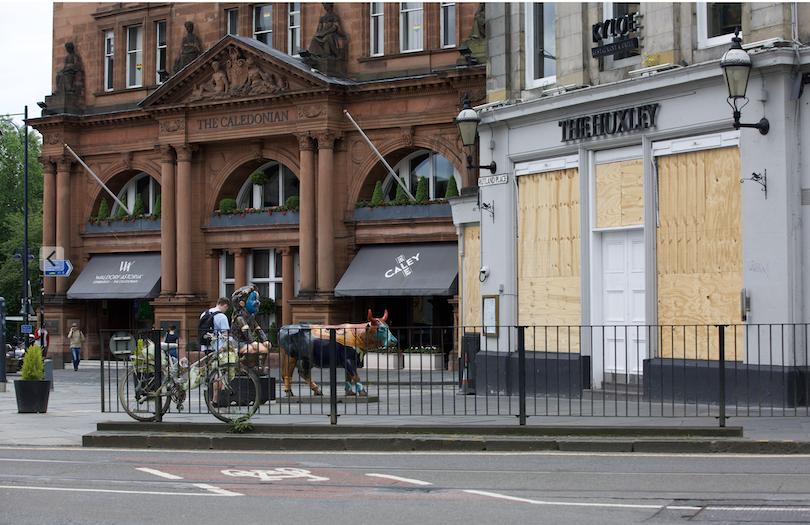 Huxley pub and Caledonian