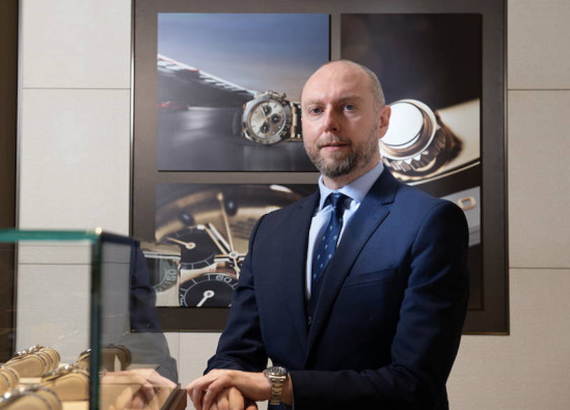 Marcus Robertson of Rolex store