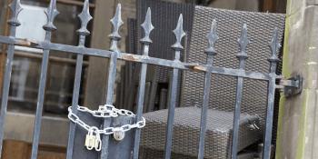 lock on gates at bar
