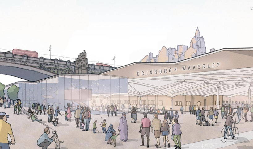 Edinburgh Waverley plan