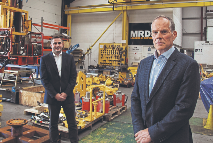 Ian McGillivray and MRDS Executive Chairman, Ronnie Garrick
