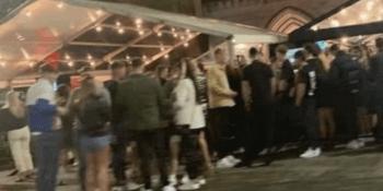 Crowded bar in Aberdeen