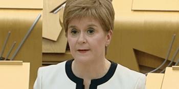 Nicola Sturgeon in parliament