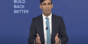 Rishi Sunak at Tory conference 2020